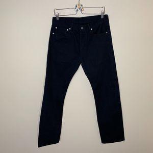 NWOT Levis 501 Dark black slim fit jeans 32 x 32